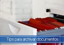 Tips para archivar documentos
