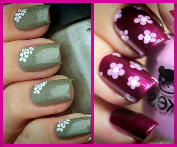 Dise os de u as decoradas con flores nails art for Decoracion de unas de rosas